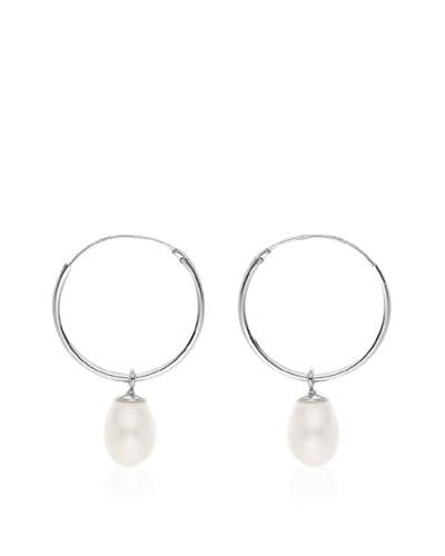 Compagnie générale des perles Pendientes  Plateado / Blanco