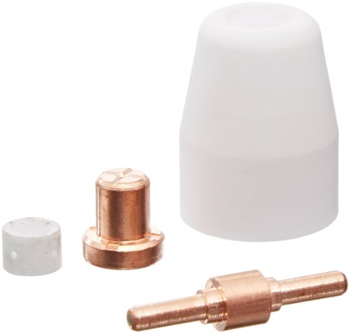 Lcon40 40 Pcs Lotos Plasma Cutter Consumables Nozzle Electrode Cup And Ring For 50A Lotos Plasma Cutters Cut50D, Lt5000D, Ct520D, Blct520D