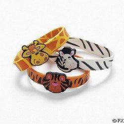 12 Safari Zoo Animal Bracelets