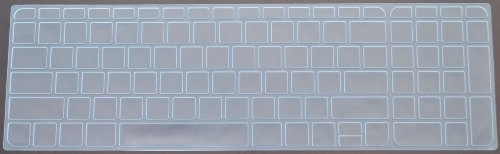 Folox Tm Colored Keyboard Cover Skin Protector For Hp Pavilion 15 Sleekbook Ultrabook (Clear)