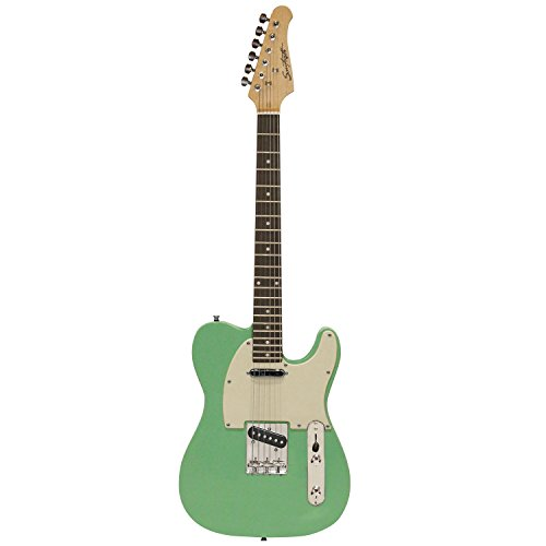 Sawtooth St-Et50-Sgrw Classic Et 50 Ash Body Electric Guitar - Surf Green With Aged White Pickguard