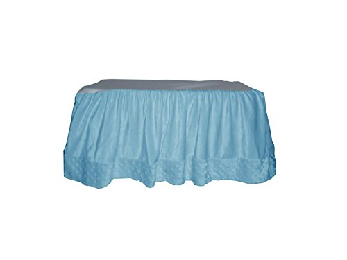 Baby Doll Heavenly Soft Crib Dust Ruffle, Blue