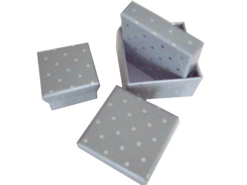 Set of 3 Small Square Silver Spot Gift Present