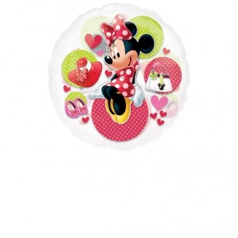 "Anagram International Minnie See-Thru Flat Party Balloons, 26"", Multicolor"