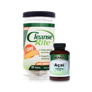 Amazon.com: CLEANSE-RITE 7 Day Colon Cleanse + FREE ACAI 1000mg 120 ...