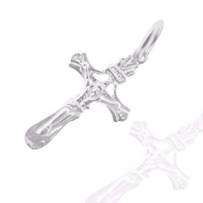 925 Sterling Silver Jewelry, Traditional Crucifix Charm, Adjustable Fit, Plus Free Special Gift Pouch