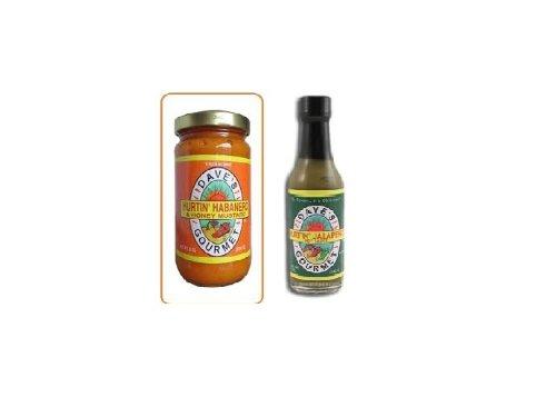 Daves Hurtin' Habanero Mustard & Daves Habanero Jalapeano Sauce