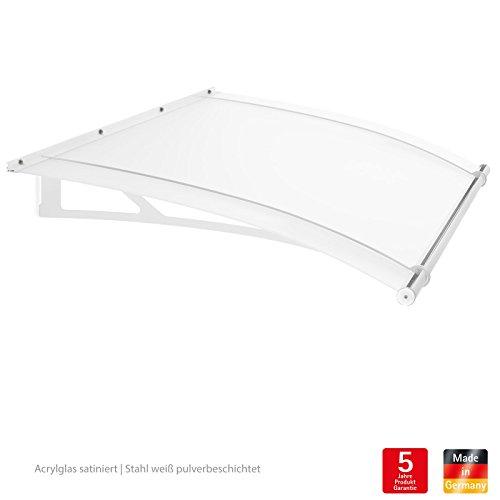 vordach haust r berdachung 205 x 142 cm acrylglas stahl wei pultvordach schulte xl. Black Bedroom Furniture Sets. Home Design Ideas