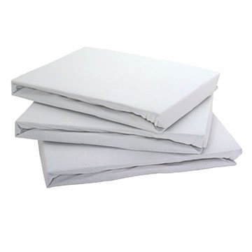 White Jersey Fitted Sheet Super King Size
