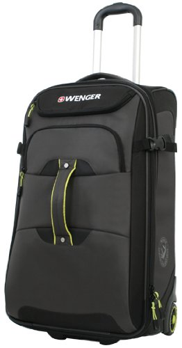 Wenger Terrain Crossing Rolling Upright Bag, 25-Inch, Grey/Lime