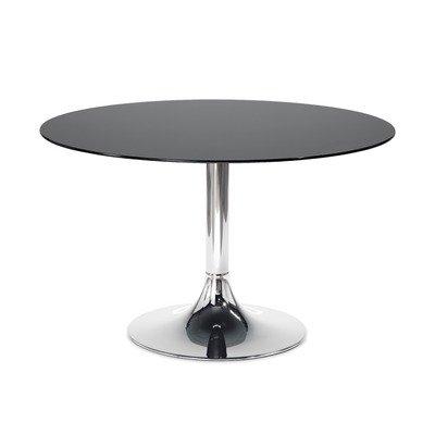 Cheap Corona Round Dining Table Finish (Frame / Top): Chrome / Extra White Glass (CORONA/D6V-C09 VB)