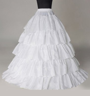 Sunvary Nylon A-line Full Gown 1 Tier Slip Bridal Petticoats