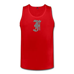 PTHF Mens Finally Famous Cotton Tank Tops Shirt Red S