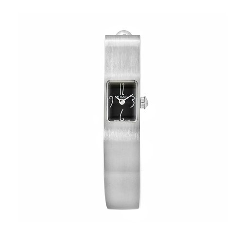 Milus Women's MON006 Monocera Stainless Steel Small Black Dial Bangle Watch