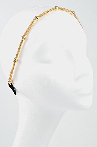 Trendy Fashion Jewelry Chain With Ball Station Hair Wrap By Fashion Destination | (Gold)
