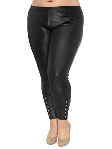 Simplicity Fashion Leggings with Spike Details, Body Hugging Fit