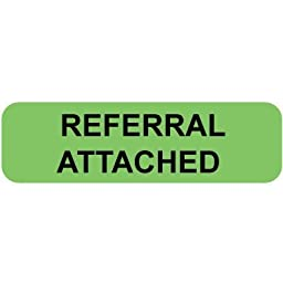 Colortrieve Green Referral Attached Label, 5/16\