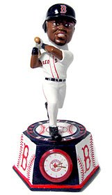 Boston Red Sox David Ortiz Forever Collectibles Bobble Head Clock