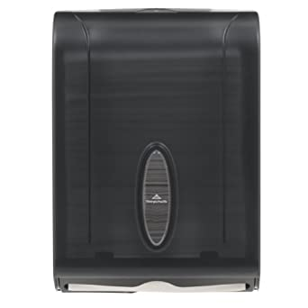 "Georgia-Pacific GP 56650/01 Translucent Smoke Combination C-Fold or Multifold Paper Towel Dispenser, 11"" Width x 15.4"" Height x 5.25"" Depth"