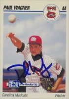 Paul Wagner Carolina Mudcats - Pirates Affiliate 1992 Skybox Pre-Rookie Autographed... by Hall of Fame Memorabilia