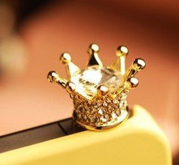3.5Mm Crystal Crown Anti Dust Earphone Jack Plug Stopper For Iphone 4 4S Htc Samsung Ipad Ipod