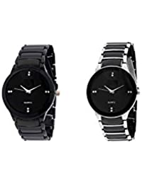 Akag Analog Black Dial Round Combo Watches For Men And Boys - IK-W-SB105