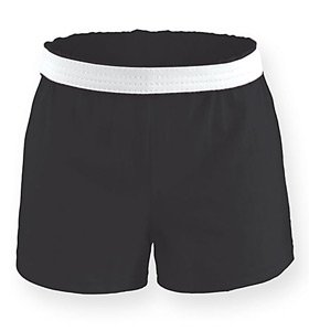 Soffe Athletic Youth Cheer Shorts, Black, X-Large Black Cheer Shorts
