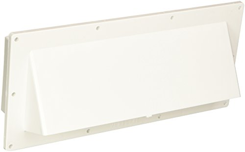 Ventline (V2111-13) Polar White Horizontal Exterior Wall Vent (Stove Hood Cover compare prices)
