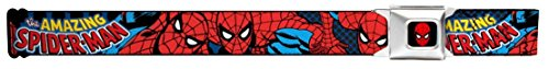 Buckle Down Kids and Teens Fabric Spiderman Seatbelt Buckle Belt, Red