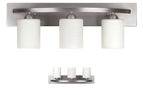 Capital Lighting 4 Light Vanity Fixture Brushed Nickel: Canarm IVL408A04BN Lyndi 4-Light Bath Vanity, Brushed