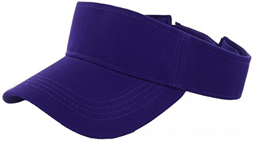 Purple_Plain Visor Sun Cap Hat Men Women Sports Golf Tennis Beach New Adjustable (US Seller)