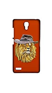 Detective Lion Facecase For Xiaomi Red Mi Note 4G