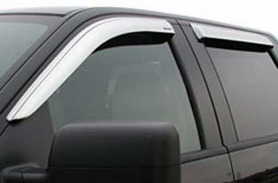 Tape-On Rain Guard Window Visor Light Grey 4pc For 2004-2008 Pontiac Grand Prix