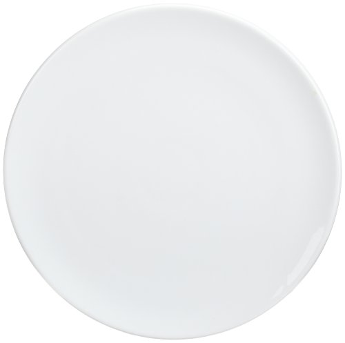 Kitchen Supply White Porcelain Pizza/Cake Plate, 14-Inch Diameter
