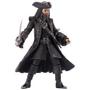 "Pirates of The Caribbean 6"" Collector Figure Wave #2 Blackbeard V2"