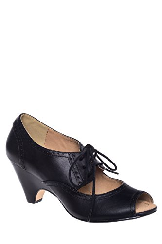 Julia Mid Heel Open Toe Pump