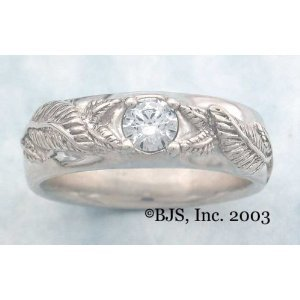 Mens Nenya Ring Wedding Band Lord of the Rings-Sterling Silver