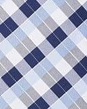 BAXBO Men's Microfiber Adjustable Clasp On Novelty Flask Tie (Hidden 8 Ounce Bladder) Plaid Navy Lt. Blue White w/Free Funnel