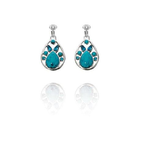 Fiorelli Aqua Multi Teardrop Clip On Earrings