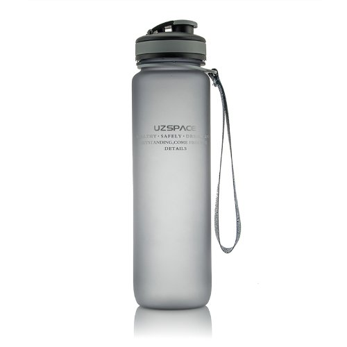 Uzspace Tritan Sports Water Bottle,Bpa-Free,Sqc900.01Kdl,32Oz (Grey) back-468267
