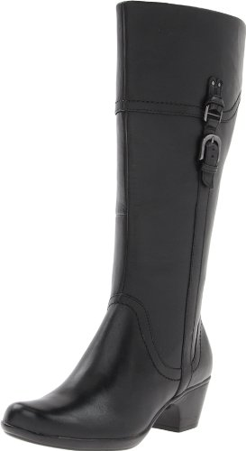 Clarks Women's Ingalls Vicky Boot,Black Leather,7 W US