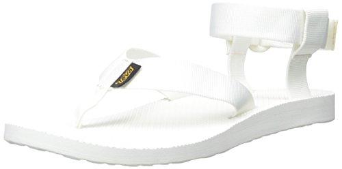 Teva Original Sandal Donna US 10 Bianco Larga Sandalo da Sport