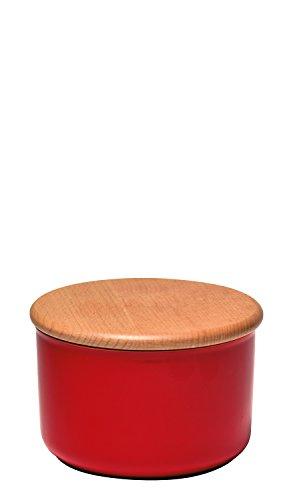 Emile Henry EH348743 Pot l'Epicerie Moyen Modèle Céramique Grenade 13 x 13 x 9,5 cm