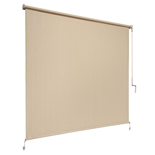 8 ft window sun shade blind roller roll up exterior for Exterior window shade