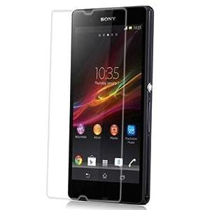 Fone-Stuff Façade en verre LCD Protecteur écran Film pour Sony Xperia Z Téléphone intelligent à Crystal Clear
