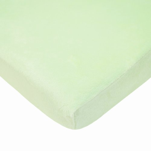 American Baby Company Celery Heavenly Soft Chenille Bassinet Sheet - 1
