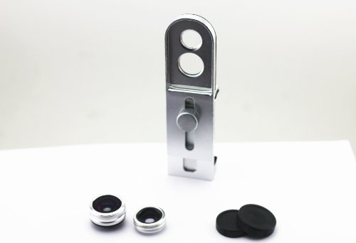 Action1St Universal Multi-Function Clip With 3 In 1 Fish-Eye+Wide Angle+Macro Lenses Kit For Iphone 4 4S 4G 5 5G 5S 5C Samsung Galaxy S2 I9100 S3 I9300 S4 I9500 Note1/2/3, Htc One (Silver)