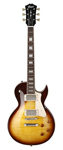 Cort CR250VB Classic Rock Series Electric Guitar Arched Flamed Maple Top, Vintage Burst