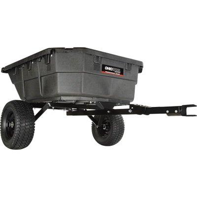 Ohio Steel Professional-Grade Tractor/ATV/UTV Swivel Dump Cart -48 1/4in.L x 39in.W, 1250-Lb. Capacity, Model# 4048P-HYB image