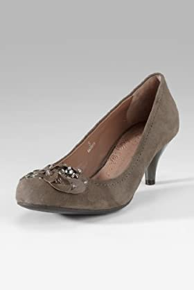 Per Una Suede Jewel Embellished Court Shoes [T02-1525A-S]
